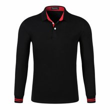 LiSENBAO Brand Polo Men Fashion Collar shirts Logo Man Long Sleeve Casual Camisetas Masculinas Plus Size S-3XL Polos Sweatshirts