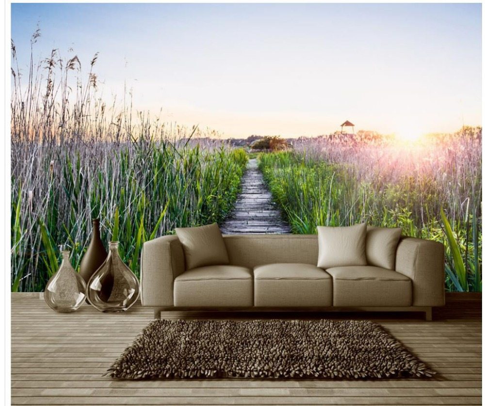 grass bedding promotionshop for promotional grass bedding on  - d wallpaper home decoration beautiful romantic green grass flowerwonderland landscape background wall