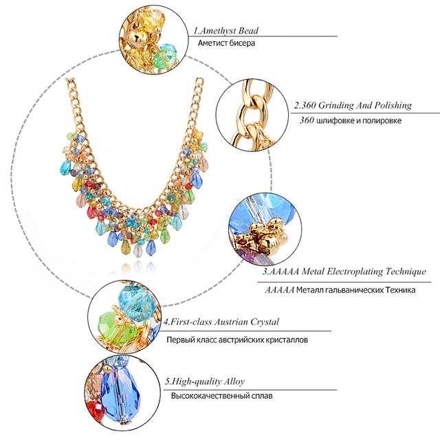 Chicvie богемный эффектный большой массивный чокер ожерелье