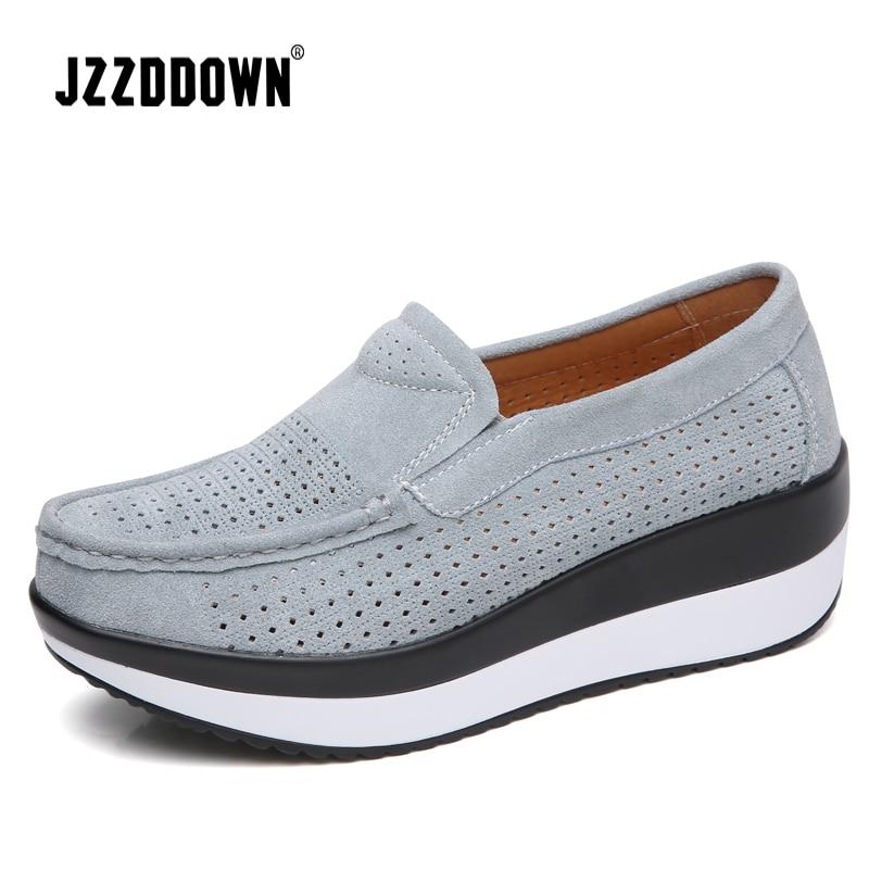 Women Summer Sandals Platform Sneakers Shoes Cow Suede Leather Ladies Breathable Elegant High Heel Shoe Female Casual Footwear