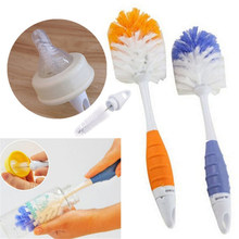 Baby Bottle Brushes For Cleaning Kids Milk Feed Bottle Nipple Pacifier Nozzle Spout Tube Cleaning Brush Set(China)