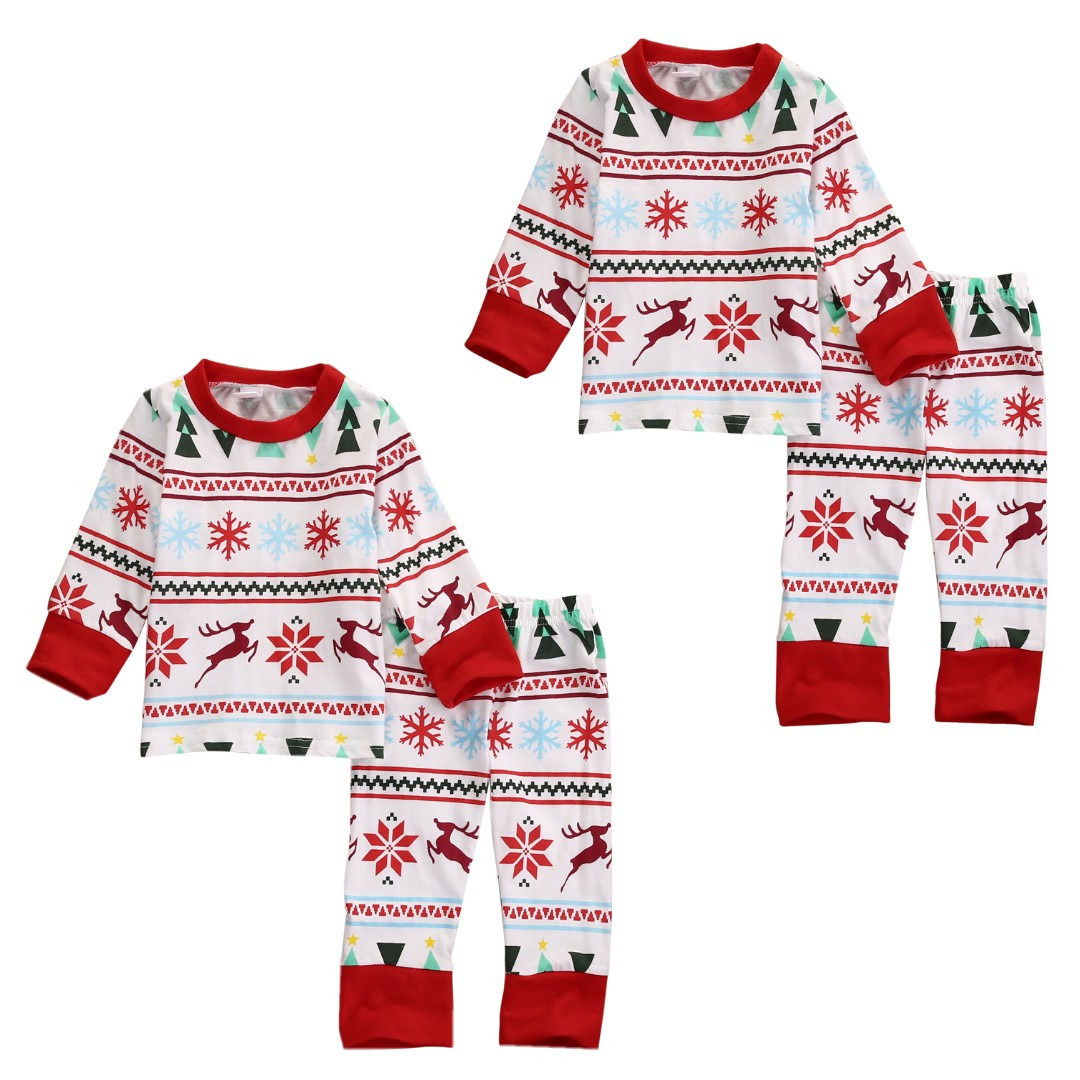 4be7e2978d80 2016 Children Kids Baby Boy Girl Long Sleeve Pajamas Xmas Christmas ...