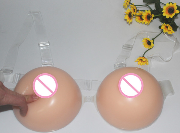 1 pair 2000g Free Shipping Good Looking Round Shape Silicone Breasts Forms Artificial Big Boobs for Cross Dressing Men Cosplay