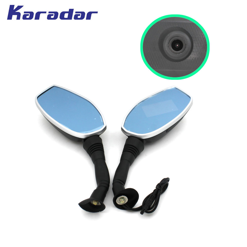 2018 new karadar motorcycle rear view recorder DVR 2 7 inch display 1280 720 camera