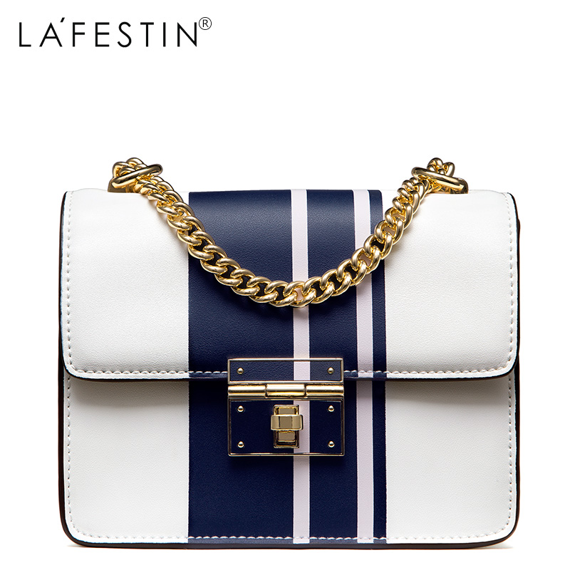 LAFESTIN 2017 Designer Panelled Women Shoulder Bag Genuine Leather Flap Fashion Women Totes Shoulder Luxury Brands Bag bolsa lafestin luxury shoulder women handbag genuine leather bag 2017 fashion designer totes bags brands women bag bolsa female