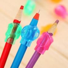 Купить онлайн 8 шт. ручка и карандаш Grip записи корректор Милые силиконовые прозрачные студент пера Топпер мягкие понять школьные принадлежности детям подарок