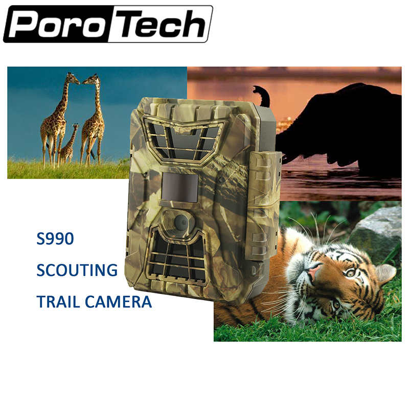 S990  Hunting Trail Camera Full HD 12MP 1080P scouting camera Video night Vision Scouting Infrared Game Hunter Camera wildlife free shipping wildlife hunting camera infrared video trail 12mp camera