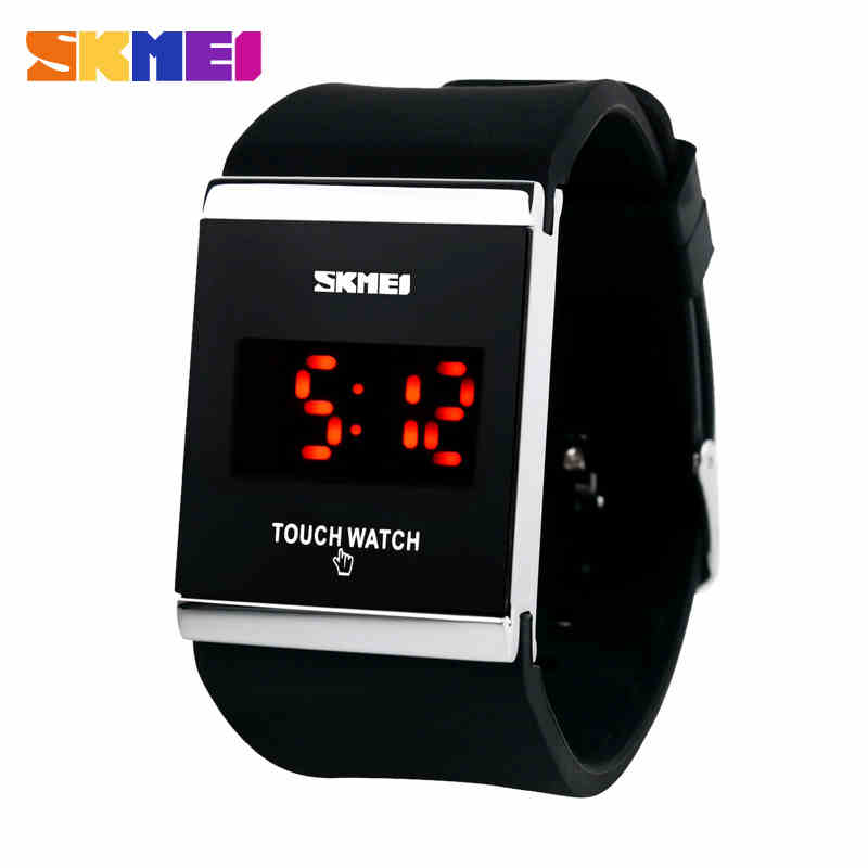 new fashion waterproof silicone jelly LED touch screen electronic digital watches Unisex Students Casual Watches Men Women Watch