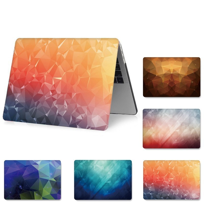 Geometrical Print Full Cover Laptop Cases for MacBook Air Pro 11.6 13.3 12 Inch Hard PVC Protect Case for A1466/1534/1370/1286-in Laptop Bags & Cases from Computer & Office