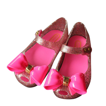 15 18cm Crystal Mini Melissa Shoes 2017 New Children S Mesh Hole Shoes Girls Sandals Jelly