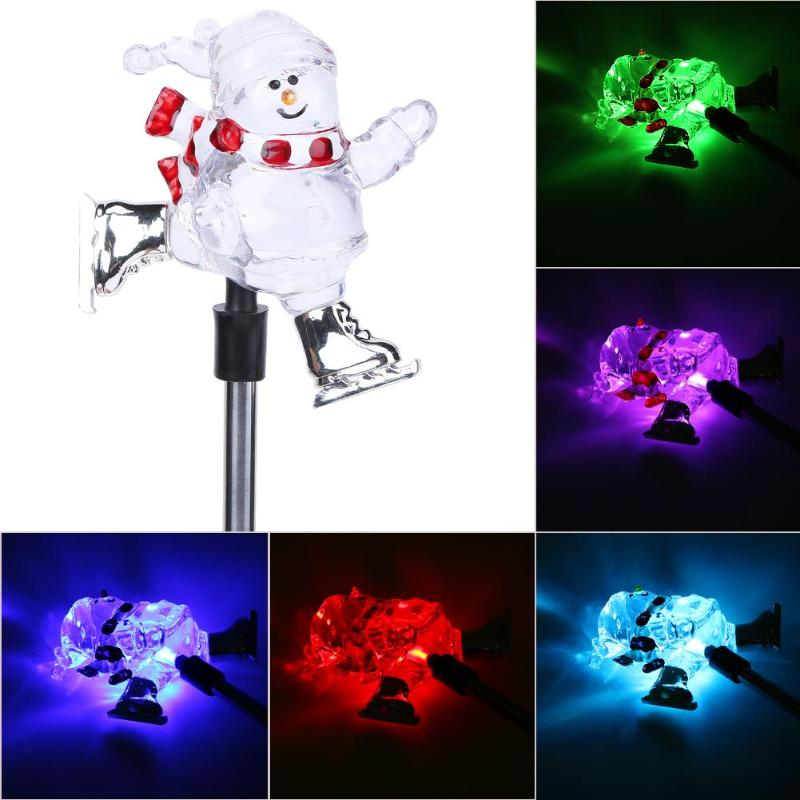 Christmas Gifts Snowman Solar LED Light Decor Lamp Outdoor Lighting Simulation Lantern Ornament Yard Path Plug Landscape Lamps christmas snowman pattern wall decor tapestry