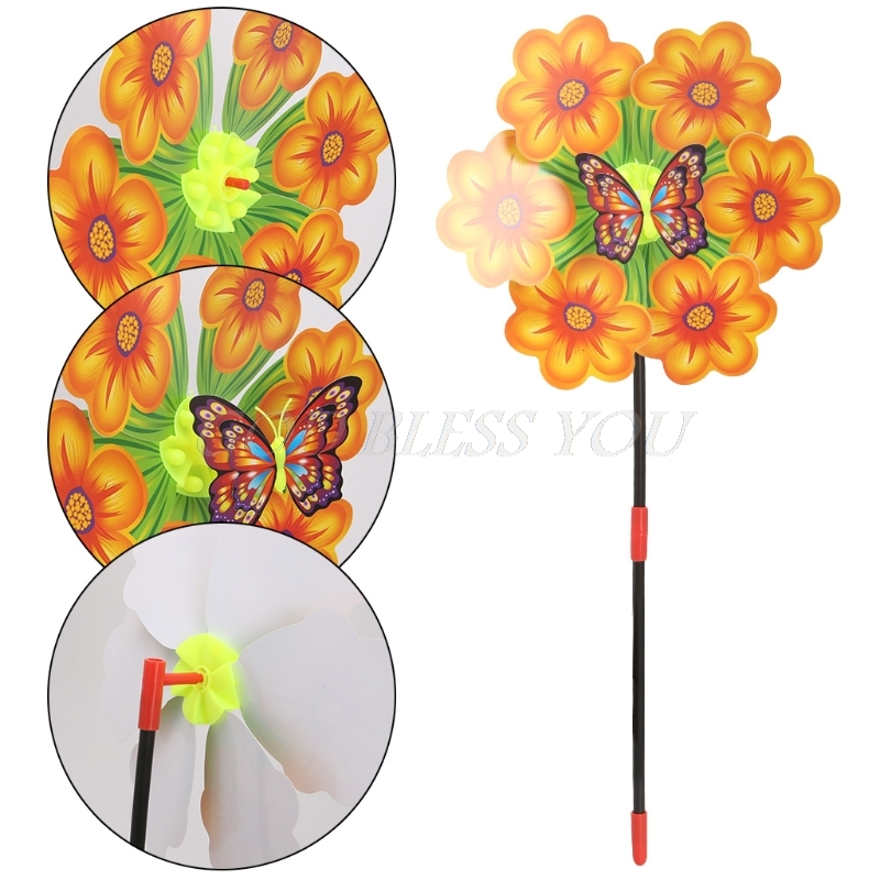 Free Shipping Flower Windmill Wind Spinner Pinwheels Home Garden Yard Decoration