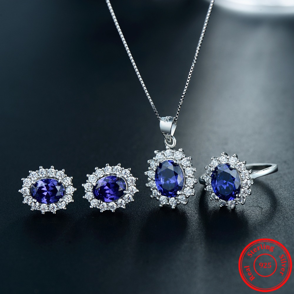 Modian Fashion Ring Gold Color Crystal Sets Earrings Classic Pendant Necklace New Real 925 Sterling Silver Jewelry For Women viennois new blue crystal fashion rhinestone pendant earrings ring bracelet and long necklace sets for women jewelry sets