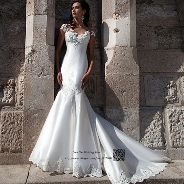 Buy african civil wedding dress mermaid for Bridal dress for civil wedding