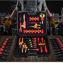 Vde 認定 1000 v 圧力絶縁電気技師ツールセット電気技師セット 220528A/b