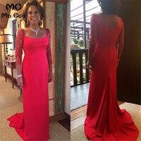 Amazing Top Quality 2018 Red Evening Dresses sobe de Lace 3/4 Sleeves Robe de soiree vestidos de fiesta Long Evening Dress