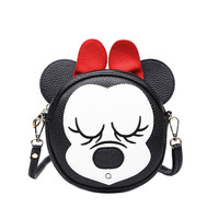 SWDF Girls Mini Shoulder Bag Classic Cartoon Animal Picture Cute Round Fashion Bow Candy Colors Small