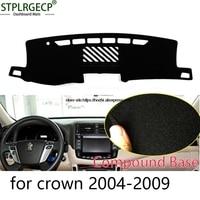 STPLRGECP Double Layer Black Dash Mat For Toyota Crown 2004 2016 Dashmat Black Carpet Car Dashboard