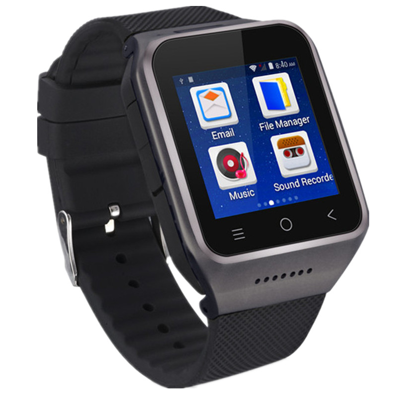 Wifi Andriod 4.42 Smart Watch Bluetooth 4.0 SmartWatch Google Play GPS Watches Phone Clock FM Video With SIM Card 3G Camera 2.0 696 bluetooth android smart watch gt08 plus support camera nano 3g sim card wifi gps google map google play store wristwatch