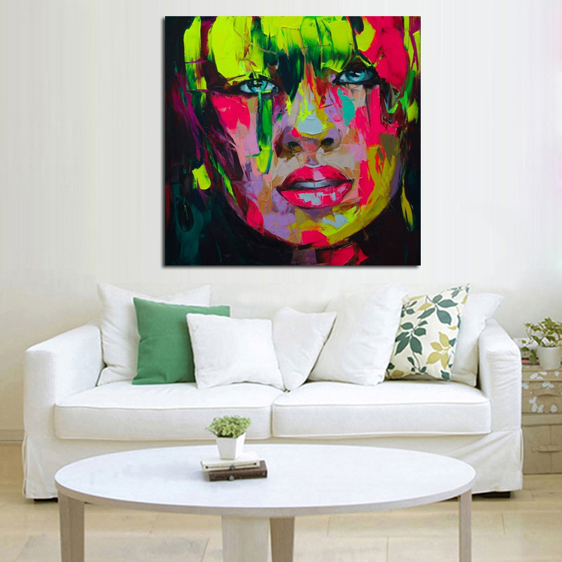 Wall Art Handmade Colorful Modern Abstract Pictures Oil ...