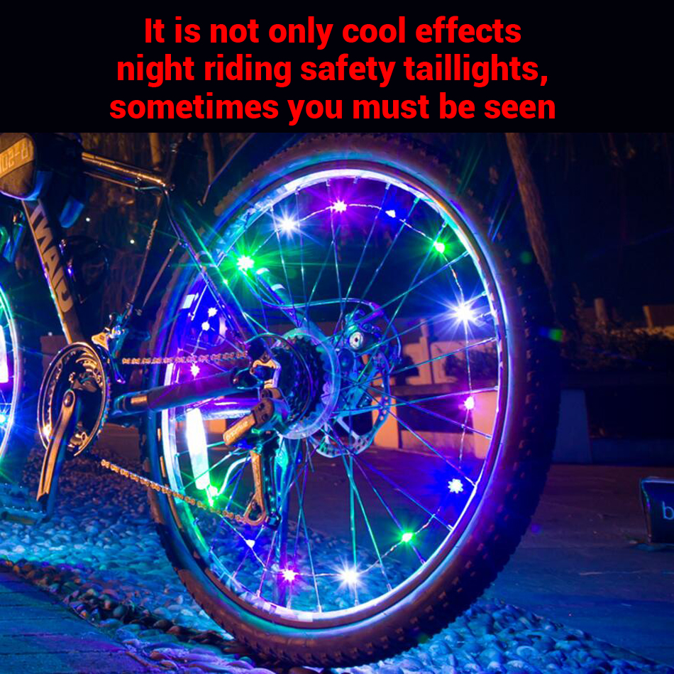 Colorful bike light 20 LED Bicycle Wheel Light Night Riding Mountain Road Bike Light Waterproof Cycling Wheel Spokes Lamp