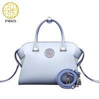 Pmsix 2017 High Quality Designer Women Handbags Leather Female Purses And Handbags Light Blue Printing Ladies