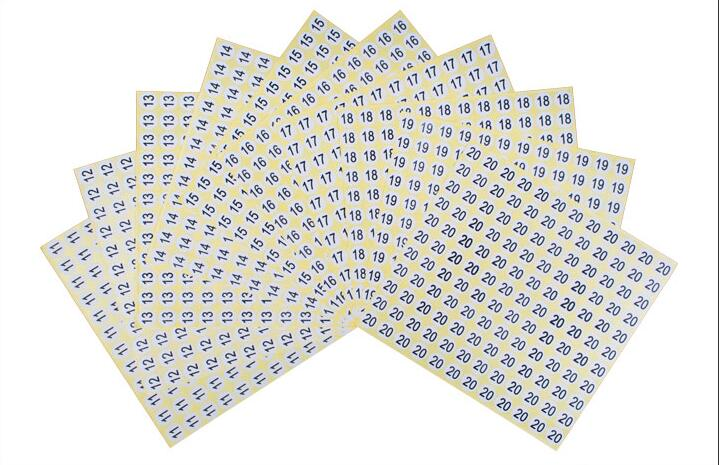 840pcs Number 0-9 Label Sequential Stickers Round Small Scrapbooking DIY Craft