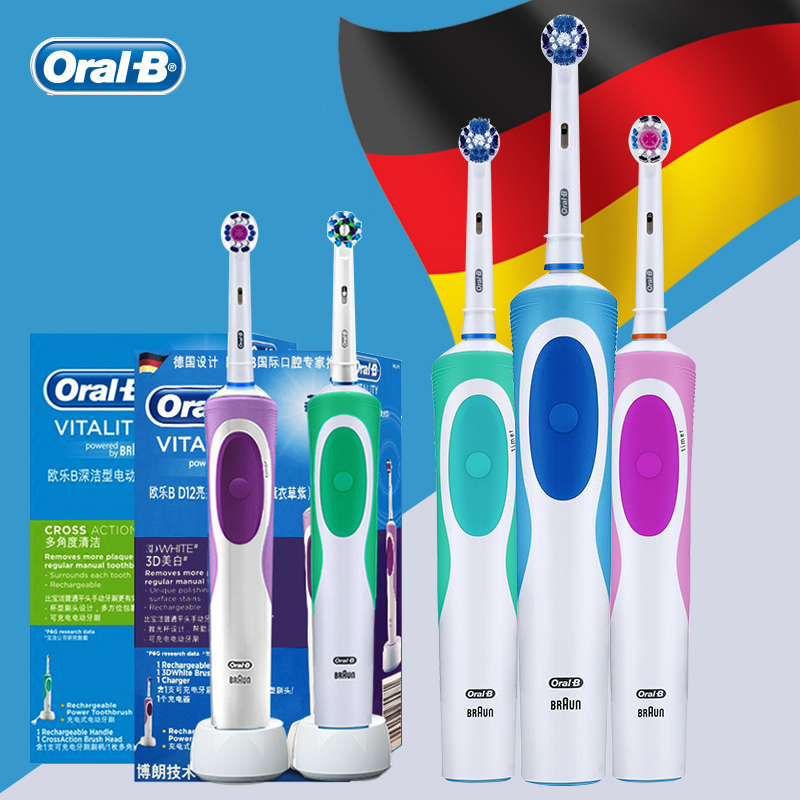 Oral B Electric Toothbrush Rechargeable Battery Electronic Adults Tooth Brush Oral Hygiene Dental Rotating Teeth Brush image