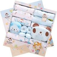 2019 New 17 PCS/set100% Cotton Banjvall Baby Brand Newborn 0 3 Months Autumn Baby Clothes Boys Girls Baby Gift Set