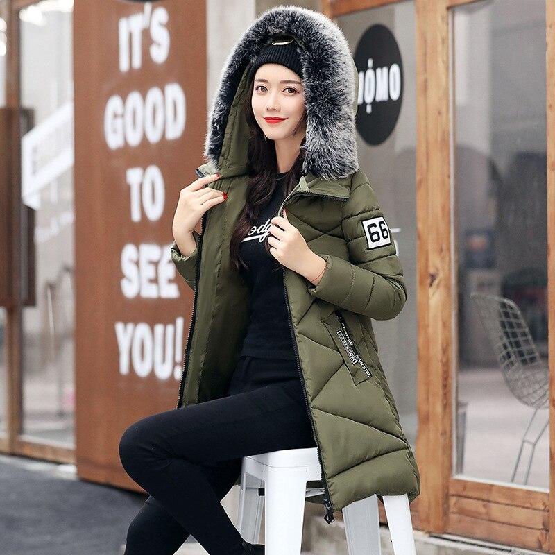 Green Mujer Femmes Manteaux W1284 Femelle 2017 army Fourrure Parka gray Rembourré Grande Coton À D'hiver Invierno Vestes Red Black Chaquetas Dames wine Hiver Capuchon Outwear w1wzqn5ET