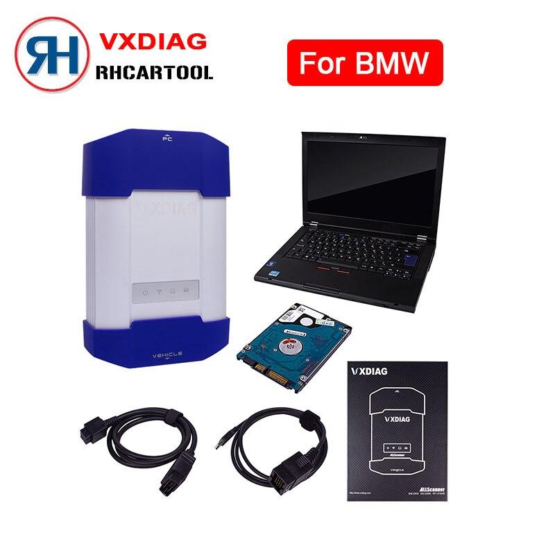 Цена за Новинка 2017 года стайлинга автомобилей ALLSCANNER vxdiag multi инструмент диагностики для BMW ICOM A2 A3 следующий Оригинальное программное обеспечение с T420 ноутбука