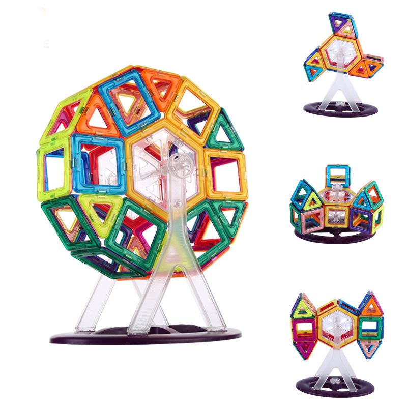 Image 3 - Magnetic Constructor Building Blocks 111PCS 3D Educational DIY Mini kits Magnet  Designer Accessory Toys for kids Christmas GiftBlocks   -