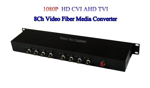 1080P HD CVI AHD TVI 8 Channel Video Fiber Optic Optical Media Converters - For 1080p 960p 720p AHD CVI TVI HD Cameras CCTV