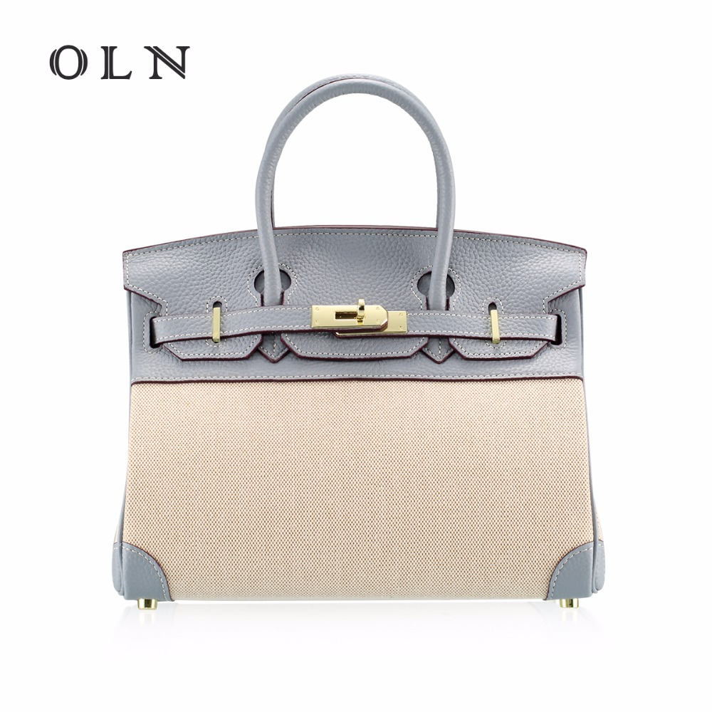 OLN 2018 Luxury Brand Cowhide Handbags Women Bags Designer Genuine Leather Handbags Big Women Shoulder Bag Top-Handle Bags цена
