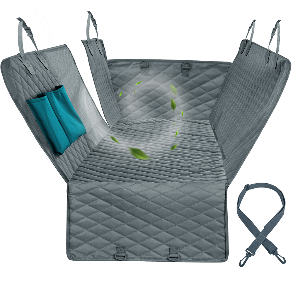Pet Carriers Dog Car Seat Cover With Mesh Viewing Window Storage Pocket Dog Hammock Seat Cover