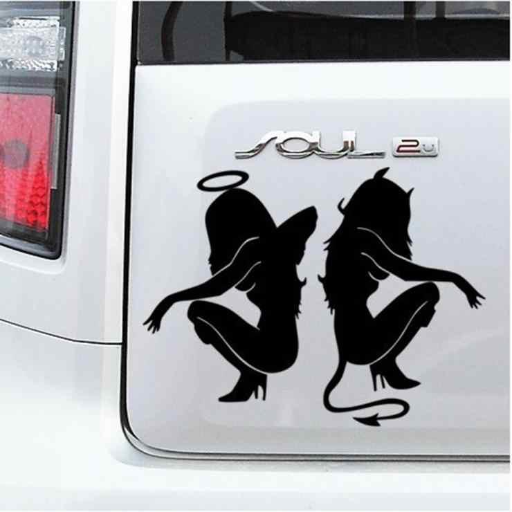 Aliauto ángeles y demonio personalidad sexy coche pegatinas decoración para Toyota Ford Chevrolet VW renault opel Honda Kia Lada