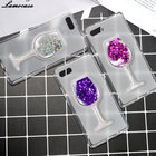 Case For Asus ZenFone 4 Max ZC520KL 3D Liquid Star Quicksand Cover Glitter Dynamic Transparent Clear TPU Wine Glass Protective