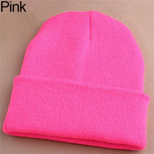 Мужские Женские вязаная шапка-бини хип-хоп зимние теплые эластичные шерстяные пряжа шапка с манжетой