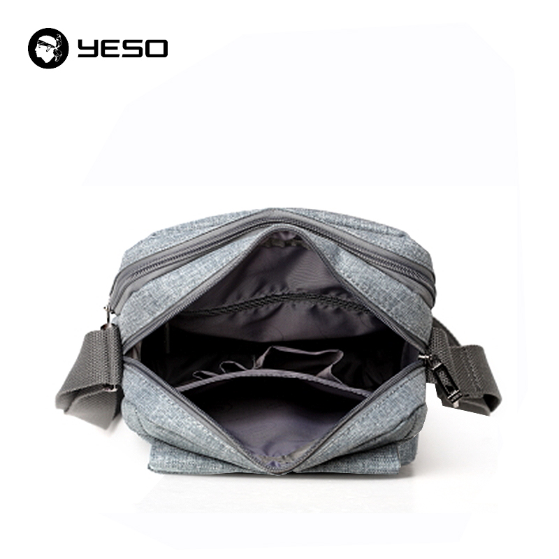 YESO Business Casual Men Crossbody Bag 2018 New Design Blue-gray Crossbody Bag For Men Waterproof Oxford Small Shoulder Bags