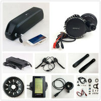Bafang BBSHD 48V 1000W Electric Bike Motor 8fun mid drive electric bicycle conversion kit with 48V 14.5AH down tube battery