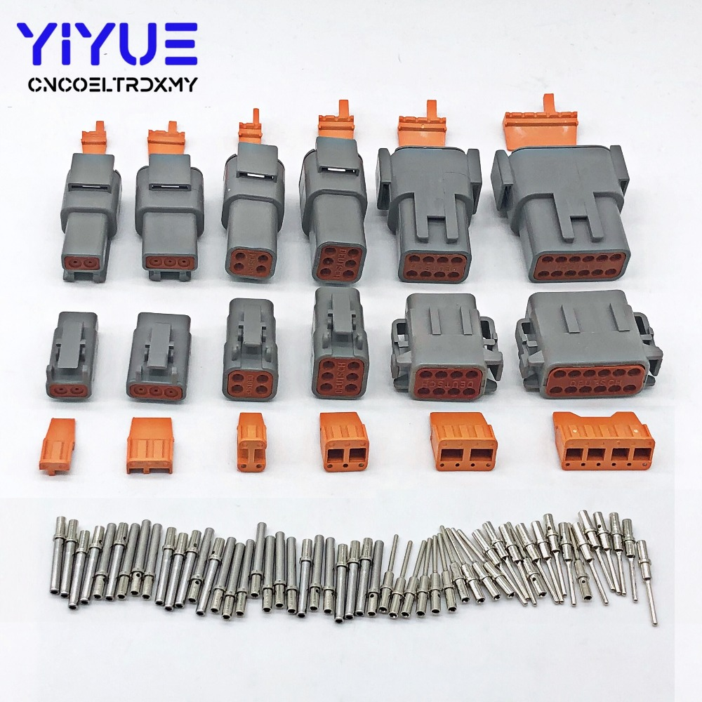 1sets Deutsch 12 Pin Waterproof Electrical Wire Connector Plug DT06-12S 16-18 GA