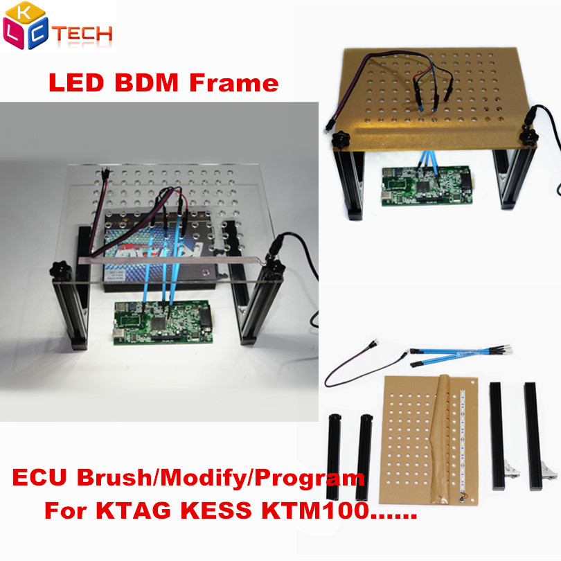 Car Repair Tools Amicable Ecu Programming New Led Bdm Frame 4pcs Probe Pen Arcylic Board Mesh Assistant Alu Alloy Stand Works Dimsport Ktag Kess Fgtech