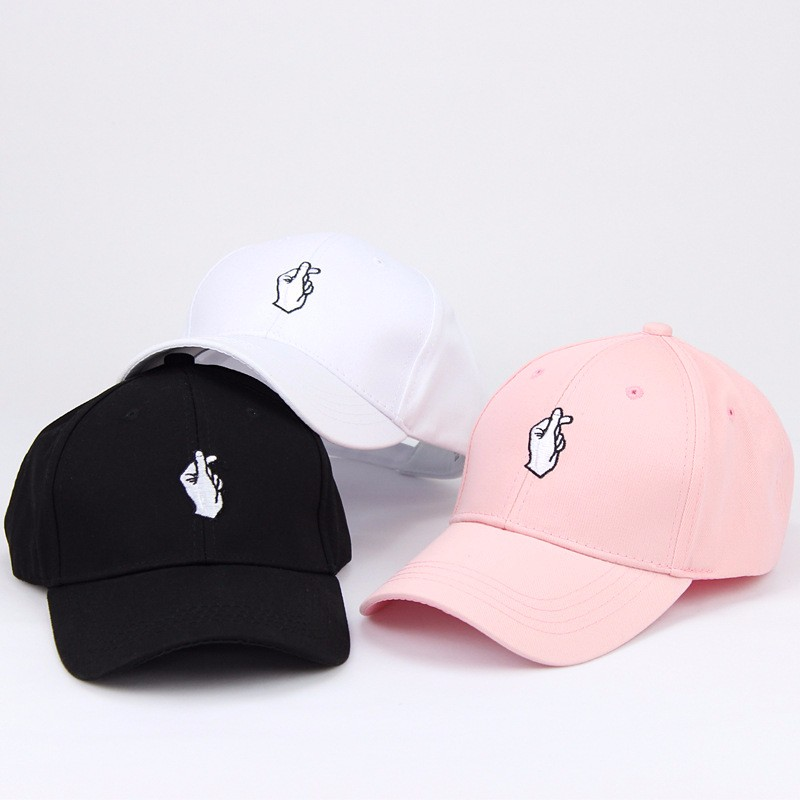 2019 New Arrival Love Gesture Finger Embroider Golf   Baseball     Cap   men women snapback hat Flipper Little Heart Love Sun Truck Hat