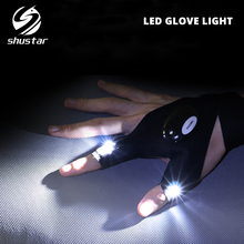 Novelty LED Flashlight Glove light Finger Battery included Used for night fishing, camping, repairs,Adventure,etc.