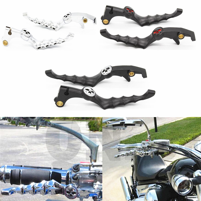 Motorcycle Zombie Skull Style Brake Clutch Levers For Honda Shadow 1100 1997-2010 Magna 750 1994-2003 VTX1300 2003-2010 carbon brake clutch levers for honda nsr250 pgm2 pgm3 pgm4 rvf400 shadow 600 750 1100 cbr 600 f2 f3 f4 f4i cbr900rr magna 750