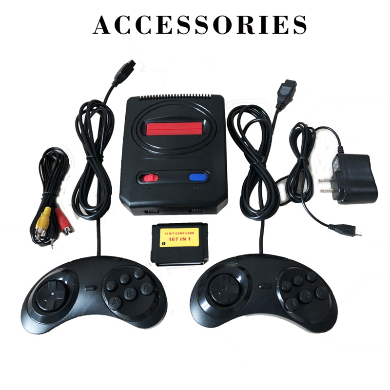 Image 3 - Powkiddy Mini Video Game Console Retro Classic Tv Game Console Dual Controller Free 16 Bit 167 In 1 Different For Sega Md Game-in Video Game Consoles from Consumer Electronics