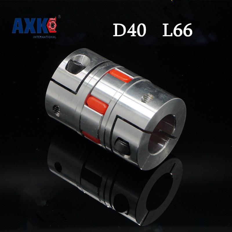 цена Cnc Stepper Motor Flexible Jaw Spider Shaft Coupling Clamp Plum Coupler D40 L66 8 10 12 12.7 14 15 16 17 18 19 20 22 15.875mm