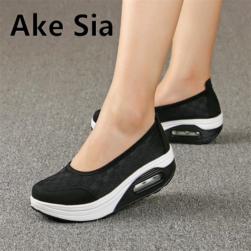 Ake Sia Women shoes fashion female thick shoes casual comfort low heels loafers nurse shoes women mujer Plus size 40. 41. 42 2017 new spring female flat heels martin shoes bullock shoes female thick bottom loafers large size women shoes obuv ayakkab