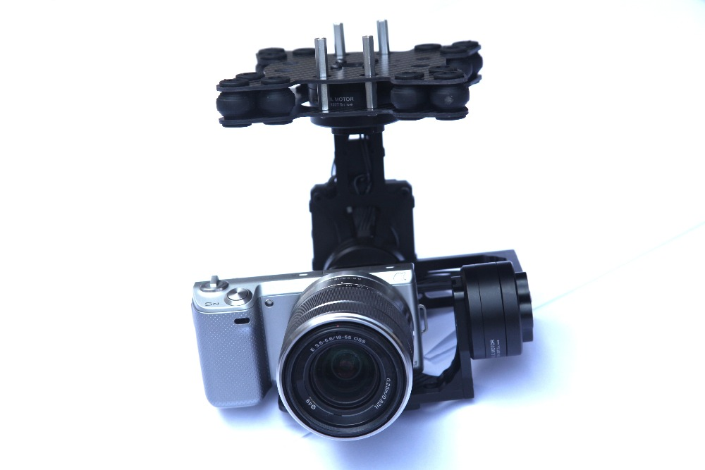 MOY 3 Axis Brushless Camera Gimbal w/32bit Alexmos Controller/ ipower motor for bmpcc Sony NEX 5N 7N FPV Aerial Photography