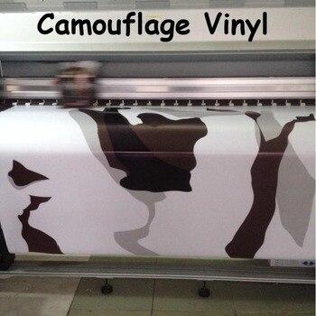 Sports Arctic Camouflage Vinyl Car Wrap Film With Air Bubble Free Arctic Camo Wrap foil size 1.52*5/10/15/20/25/30m